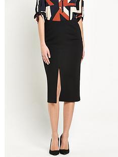wallis-midi-split-front-skirt