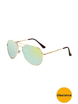 v-by-very-metal-frame-aviator-sunglasses