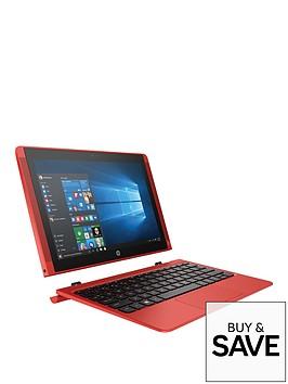 hp-pavilion-x2-10-n102nanbspintelreg-atomtrade-x5-processor-2gb-ram-32gb-storage-101-inch-touchscreen-2-in-1-laptop-includes-microsoft-office-mobilenbspndash-red