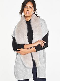 v-by-very-removable-faux-fur-sleeveless-cardigan
