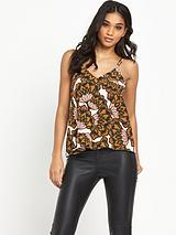RIVER ISLAND PRINTED CAMI TOP