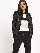 Fitted PU Jacket
