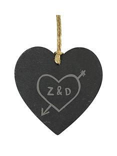 personalised-carved-initials-slate-heart