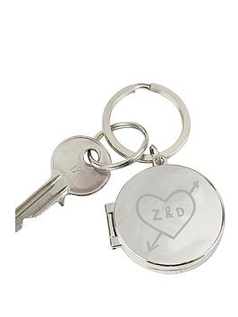 personalised-carved-initials-photo-keyring
