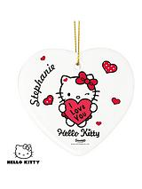 Personalised Hello Kitty Big Heart Ceramic Heart