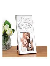 Personalised 'To The Moon & Back' Mini Photo Frame