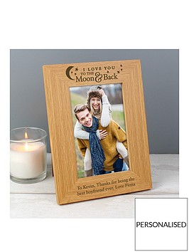personalised-to-the-moon-amp-back-oak-photo-frame