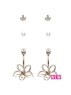 oasis-oasis-3pk-flower-cuff-earrings