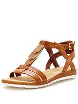Bretta Jade Flat Leather Sandal