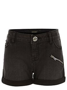 river-island-girls-black-denim-shorts