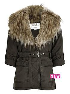 river-island-girls-khaki-belted-faux-fur-parka-jacket