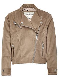 river-island-girls-beige-faux-suede-biker-jacket