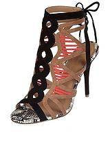 Swirly Bright Caged Sandal