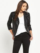 Textured Biker Jacket