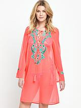 Embellished Lace Up Kaftan