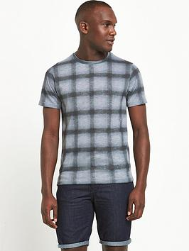 river-island-check-short-sleeved-t-shirt