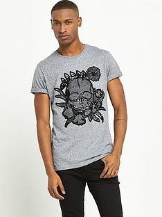 river-island-textured-skull-short-sleeve-tshirt