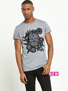 river-island-textured-skull-short-sleeve-tshirt