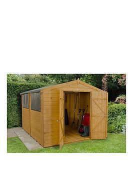 forest-8-x-10ft-double-door-4-window-shiplap-dip-treated-apex-shed-with-optional-assembly