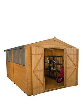forest-8-x-12ft-double-door-6-window-shiplap-dip-treated-apex-shed-with-optional-assembly