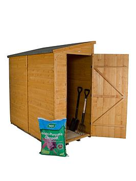 forest-6-x-3ft-single-door-shiplap-dip-treated-pent-shed-with-optional-assembly