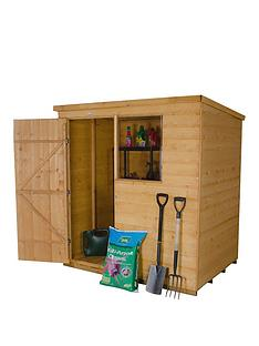 forest-6-x-4ft-single-door-1-window-shiplap-dip-treated-pent-shed-with-optional-base-and-assembly