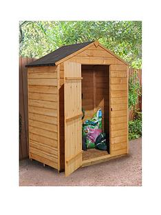 forest 5x3ft value overlap apex single door starter shed