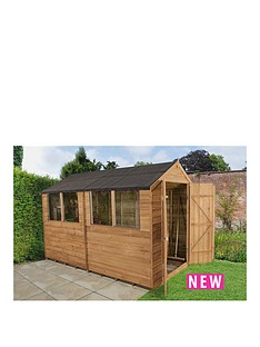 forest-10-x-6ft-double-door-with-4-windows-overlap-dip-treated-apex-shed-with-optional-assembly