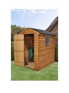 forest-6-x-4ft-single-door-1-window-overlap-dip-treated-apex-shed-with-easy-fit-roof-with-optional-base-and-assembly