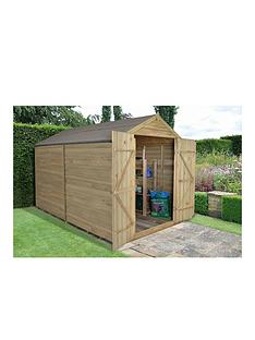 forest-forestnbsp8-x-10ftnbspdouble-door-overlap-pressure-treated-apex-shed