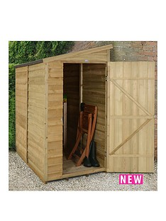 forest-6-x-3ft-single-door-overlap-pressure-treated-pent-shed-with-optional-assembly