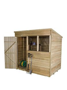forest-7-x-5ft-single-door-2-window-overlap-pressure-treated-pent-shed-with-optional-assembly