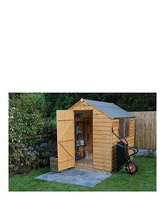 forest-forestnbsp6-x-8ft-single-door-2-window-overlap-dip-treated-apex-shed-with-optional-base-amp-assembly