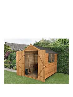 forest-forestnbsp6-x-8ft-double-door-2-window-overlap-dip-treated-apex-shed-with-base-amp-assembly