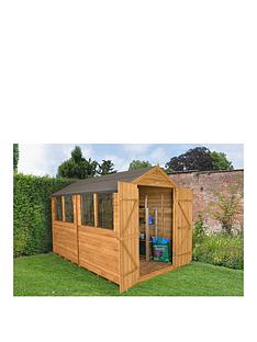 forest-8-x-10ft-double-door-4-window-overlap-dip-treated-apex-shed-with-optional-assembly
