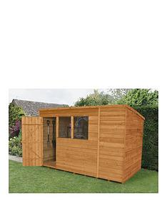 forest-10-x-6ft-single-door-2-window-overlap-dip-treated-pent-shed-with-optional-assembly