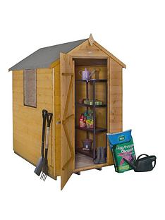 forest-4-x-6ft-single-door-1-window-shiplap-dip-treated-apex-shed-with-optional-base-assembly