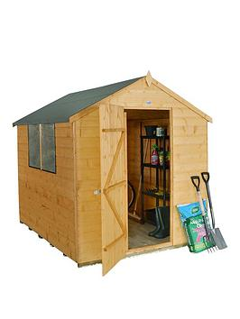 forest-forestnbsp6-x-8ft-single-door-2-window-shiplap-dip-treated-apex-shed-with-base-amp-assembly