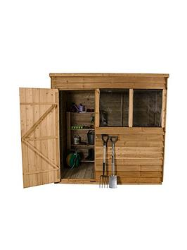 forest-7-x-5ft-single-door-2-window-overlap-dip-treated-pent-shed-with-optional-assembly