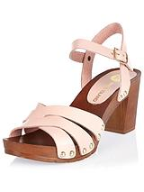 RIVER ISLAND WOODEN 2 PART SANDAL