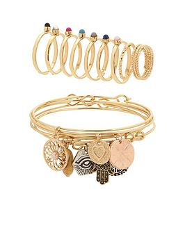 v-by-very-delicate-multi-charm-amp-layering-ring-pack