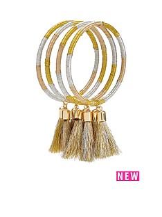 metallic-multi-tassel-layering-bangles