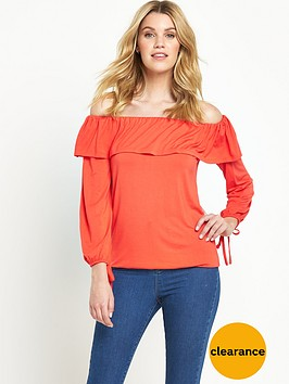 v-by-very-tiered-neck-bardot-gypsy-top