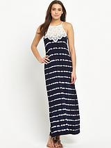 Lace Tie Dye Maxi Dress