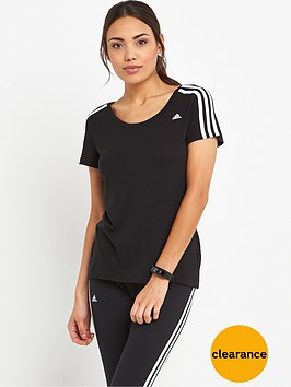 adidas-essentials-3-stripes-slim-t-shirt-black