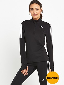 adidas-response-long-sleeve-zip-top-black