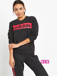 adidas-essentials-linear-sweat-top-black