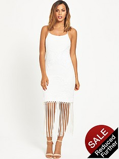 rochelle-humes-lace-tier-and-tassel-dress