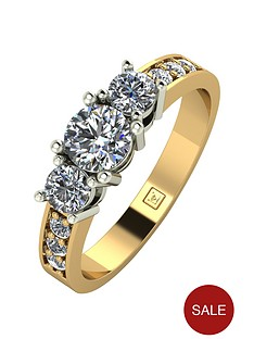moissanite-9ct-gold-1-carat-round-brilliant-trilogy-ring-with-stone-set-shoulders