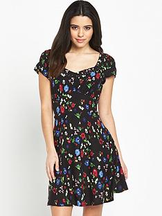 v-by-very-lace-trim-printed-day-dressnbsp